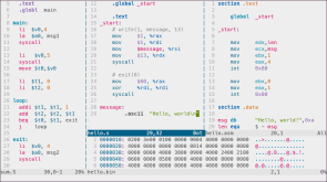 Assembly: MIPS, GAS, NASM | Plus xxd generated hexdump for fun :)