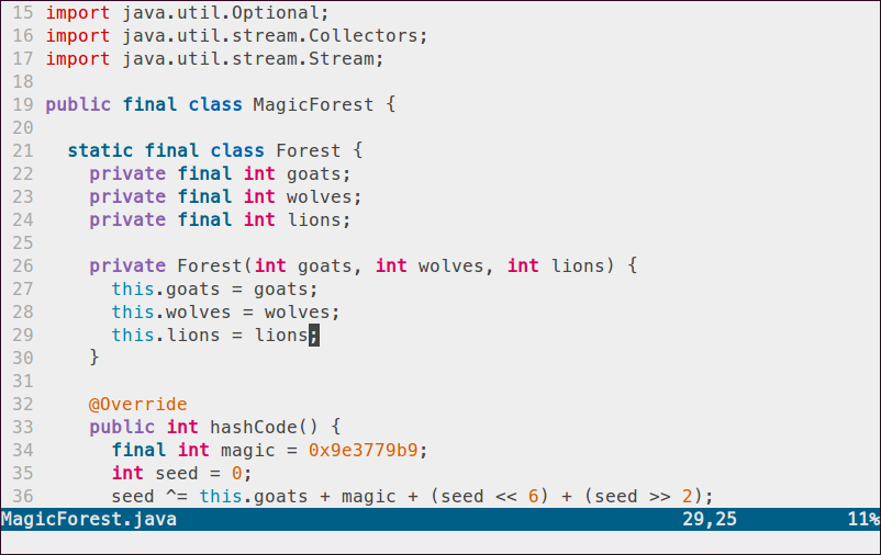 Vim Paper Color Theme – coder @ downtime: ~ $ ·